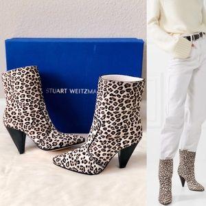 ✨New STUART WEITZMAN Atom West Booties Leopard